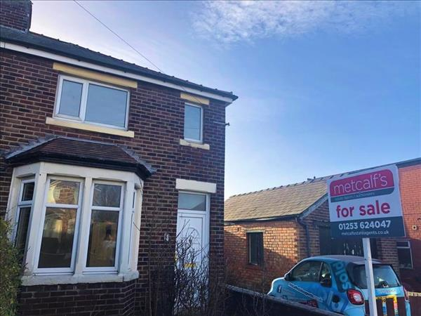 *** WOW!! A WELL PRESENTED TWO BEDROOM TERRACED PROPERTY *** Metcalfs are delighted to present this well kept end of terrace two bedroom property which is in fantastic condition throughout. This property is located in Marton, Blackpool close to many shops, schools and many transport links. The property comprises of a good sized lounge, kitchen with wooden fitted units with window looking out onto the back garden, a utility room, two double bedrooms and a large modern bathroom. The property benefits from full gas central heating and double glazing throughout. Externally the property has a low maintenance front and rear garden as well as a large driveway which has space to fit three cars. This property is currently tenanted at £550pcm and would be a perfect investment opportunity or lovely family home!! THIS IS A FANTASTIC PROPERTY DON'T MISS OUT! CALL TODAY DON'T DELAY!!! 01253 624047!